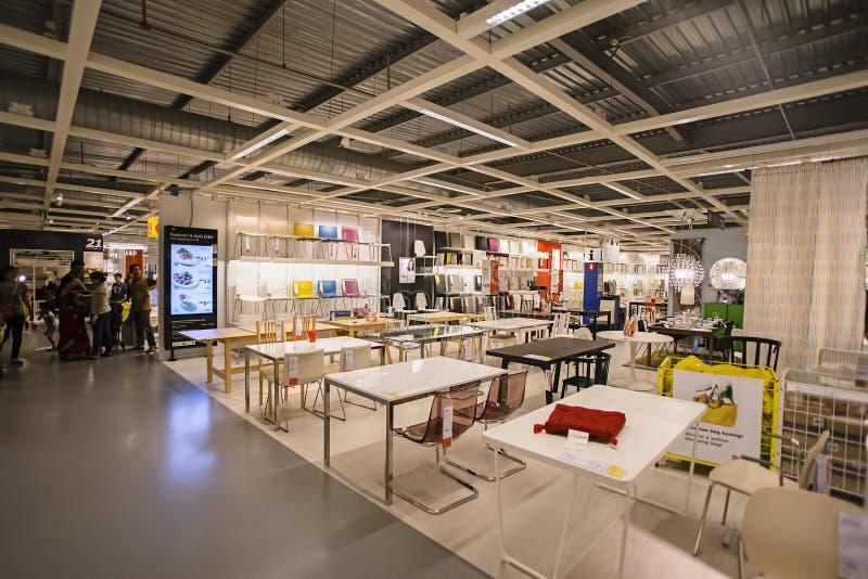 KUALA LUMPUR, MALASIA 21 DE NOVIEMBRE DE 2015: Una muestra del interior en la tienda de IKEA, Damansara, Kuala Lumpur fotografía de archivo libre de regalías
