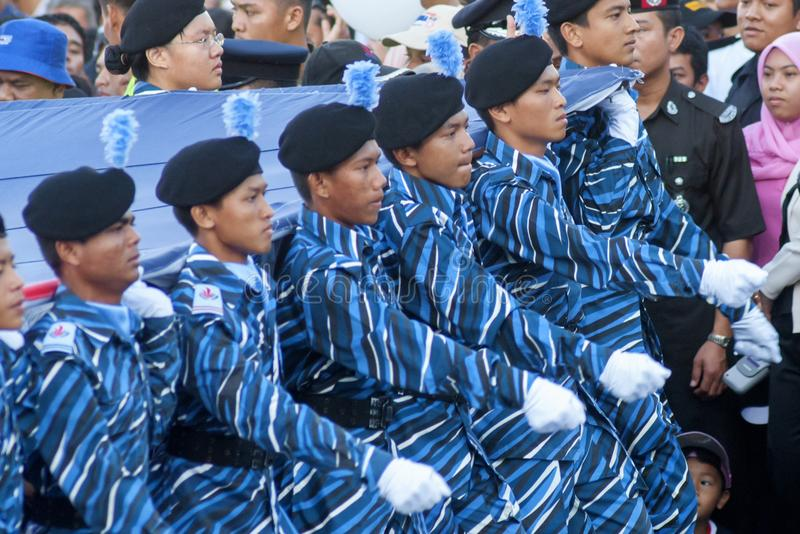 Kuala Lumpur, Malasia, desfile de Merdeka imagenes de archivo