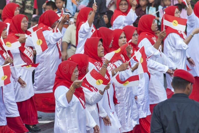 Kuala Lumpur, Malasia, desfile de Merdeka fotografía de archivo