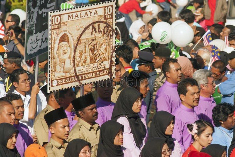Kuala Lumpur, Malasia, desfile de Merdeka fotos de archivo