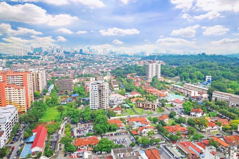 KUALA LUMPUR, MALASIA - DICIEMBRE 9,2015: Hermosa vista del capital de Kuala Lumpur Malaysia, foto de archivo libre de regalías