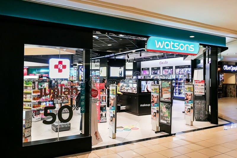 KUALA LUMPUR, Malasia, el 25 de junio de 2017: Cuidado personal Sto de Watsons fotos de archivo