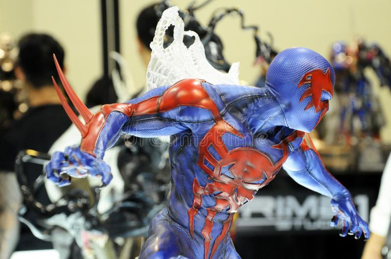 Selected focused of Marvel Comic action figure called Spider-man 2099. stock images