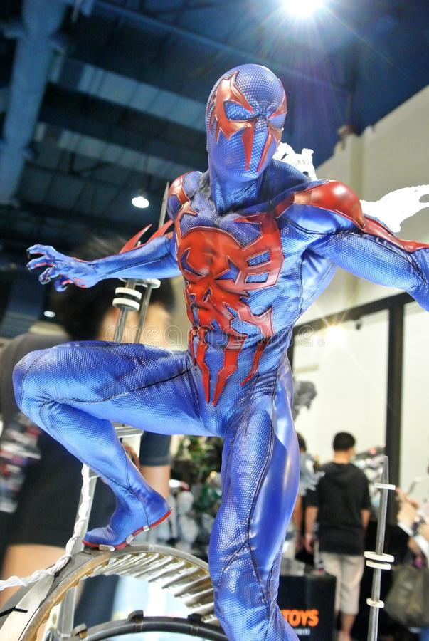 Selected focused of Marvel Comic action figure called Spider-man 2099. stock photography
