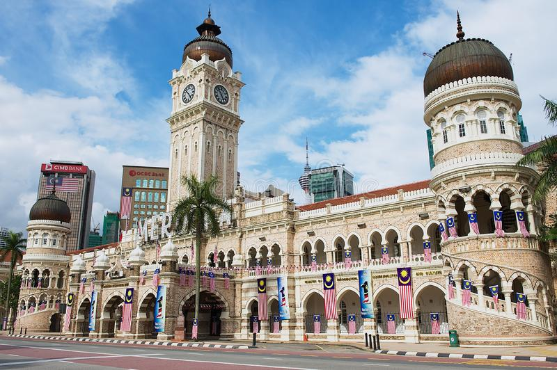 Sultan Abdul Samad building at the Independence square Dataran Merdeka in Kuala Lumpur, Malaysia. stock photography