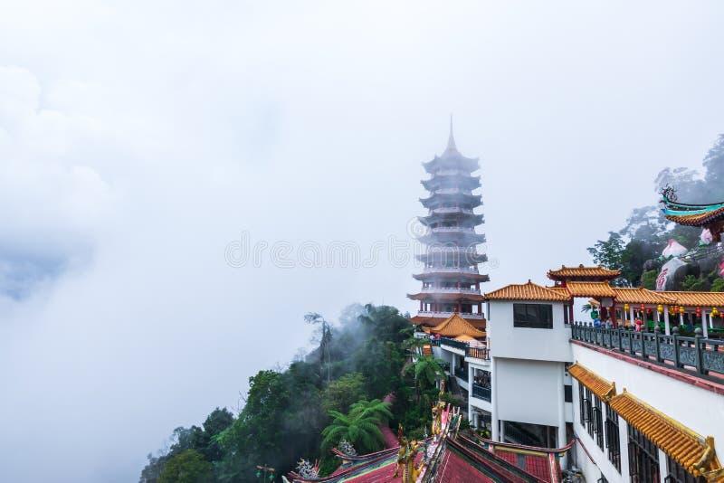 Kuala Lumpur, Malaysia, am 9. Dezember 2018: Ansicht von den Leuten, die bei Chin Swee Caves Temple, der Taoisttempel in Genting  lizenzfreies stockfoto