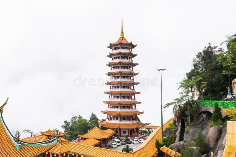 Kuala Lumpur, Malaysia, am 9. Dezember 2018: Ansicht von den Leuten, die bei Chin Swee Caves Temple, der Taoisttempel in Genting  stockbilder