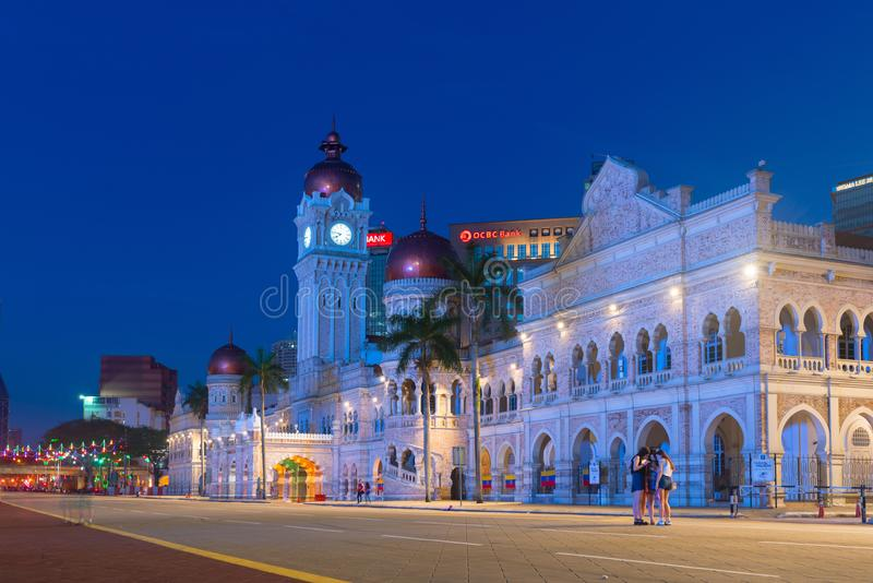 Sultan Abdul Samad Building in Kuala Lumpur, Malaysia. KUALA LUMPUR, MALAYSIA - 1 FEB 2015: Sultan Abdul Samad Building is popular historic attraction and royalty free stock images