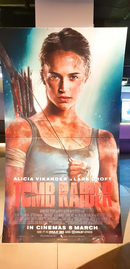 Tomb Rider movie poster royalty free stock photography