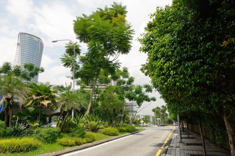 KUALA LUMPUR MALAYSIA - JANUARI 16, 2016: Sikt av Cityscape KL är huvudstaden och mest tätbefolkad stad fotografering för bildbyråer