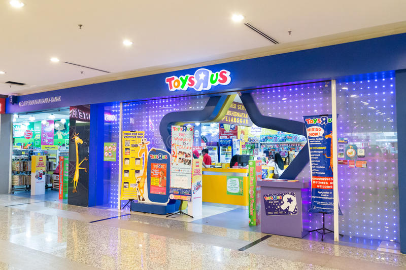 KUALA LUMPUR, MALAYSIA - January 29, 2017: Toys R Us an American toy and juvenile products retailer with store in. Malaysia royalty free stock photo