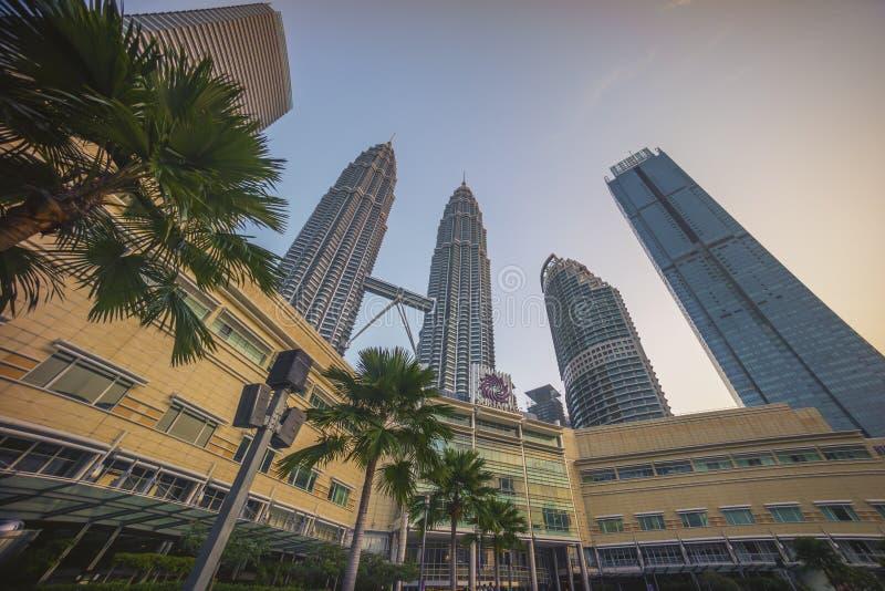 Kuala Lumpur, Malaysia - 7. Juli 2018: Sonnenaufgang bei Kuala Lumpur c lizenzfreies stockfoto