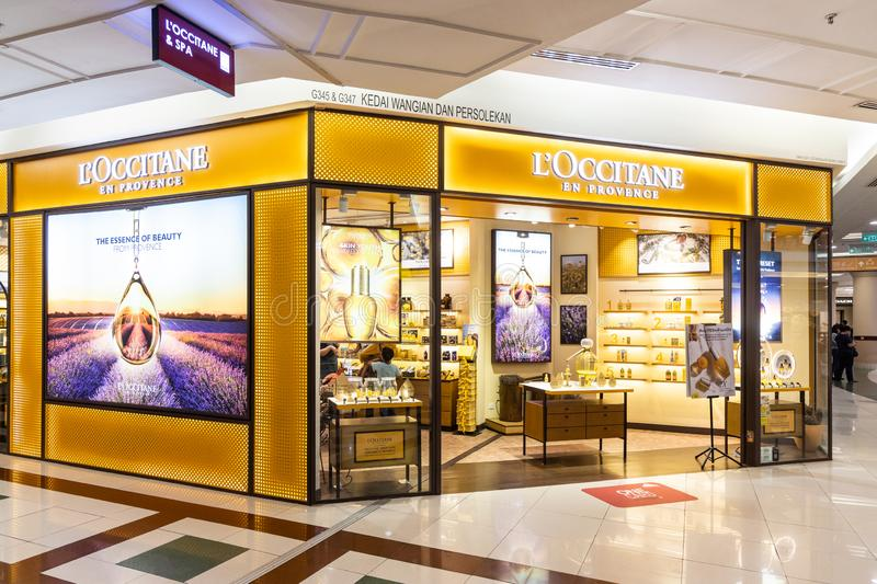 LOccitane, is an international retailer of body, face, fragrances and home products based in Manosque, France. KUALA LUMPUR, MALAYSIA, JUNE 1, 2019: LOccitane royalty free stock photography