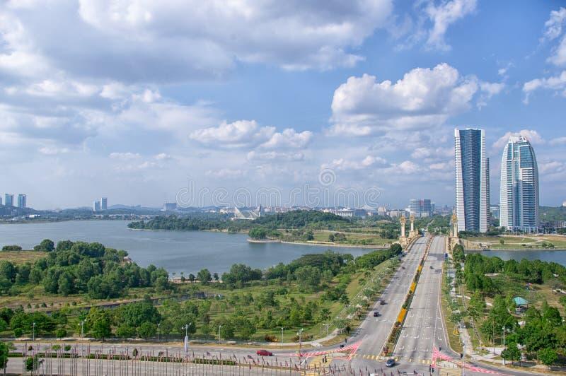 Kuala Lumpur, Malaysia, KPKT-Turm Ministerium des städtischen Wohls, der Wohnung und der Gemeindeverwaltung von Malaysia Landscha stockfotografie