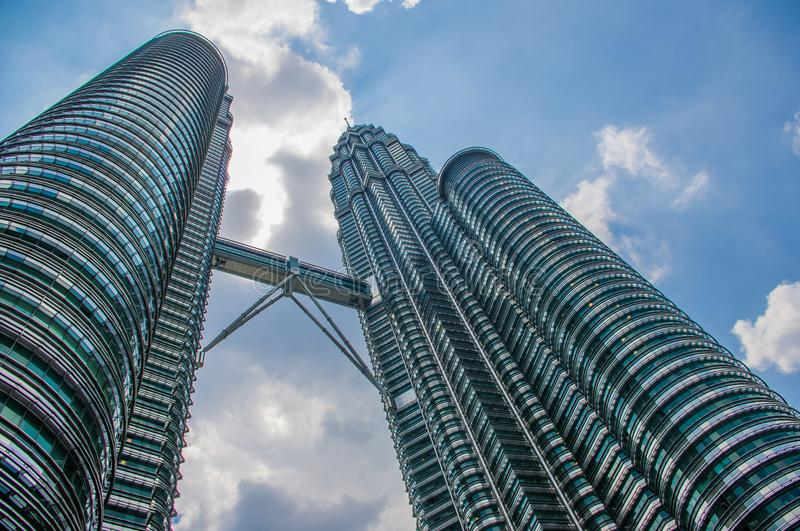 Kuala Lumpur, Malaysia - Landmark building which is located in Kuala Lumpur Malaysia. Photo is of the exterior of the building. Si royalty free stock images