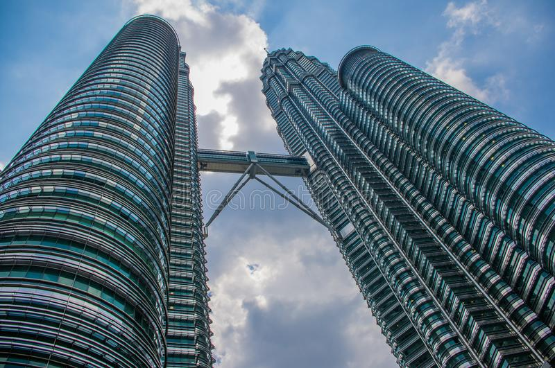 Kuala Lumpur, Malaysia - Landmark building which is located in Kuala Lumpur Malaysia. Photo is of the exterior of the building. Si stock photo
