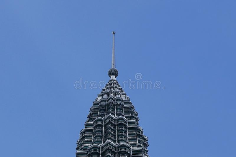 KUALA LUMPUR, MALAYSIA - MARCH 4TH, 2018: View of the Petronas Twin Towers at KLCC City Center. stock photography