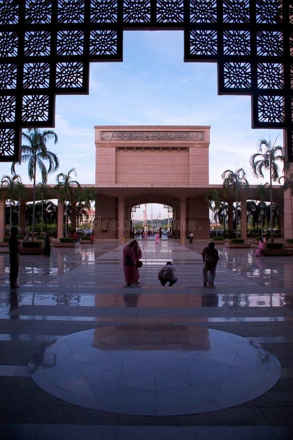 Kuala Lumpur malaysia moské putrajaya royaltyfri bild