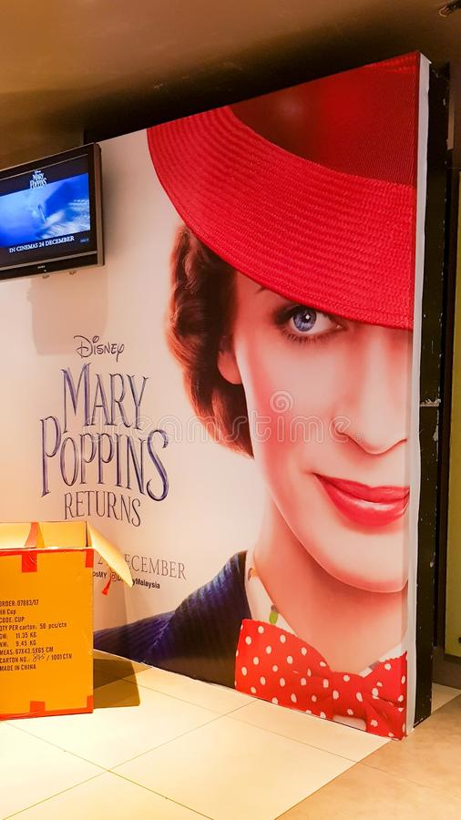 Mary Poppins Returns movie poster stock photography
