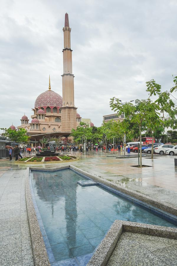 Putra Mosque the famous Pink Mosque in Kuala Lumpur stock images