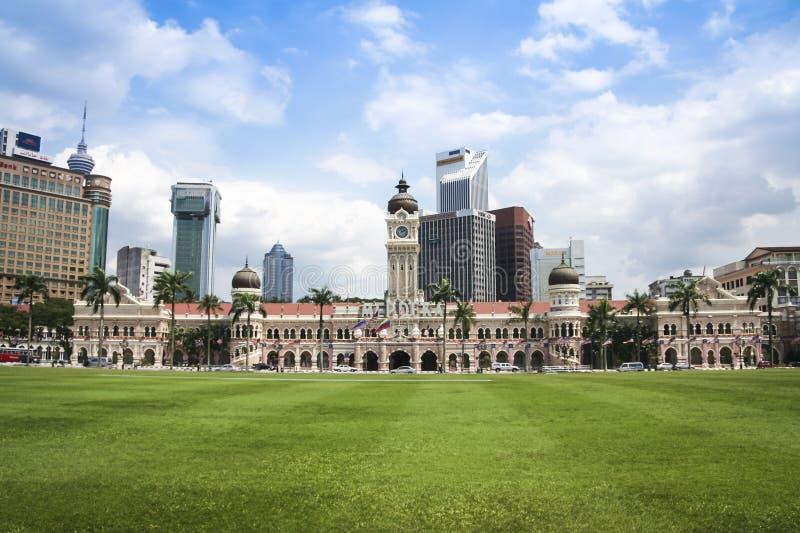 Kuala Lumpur skyline Dataran Merdeka Malaysia stock image