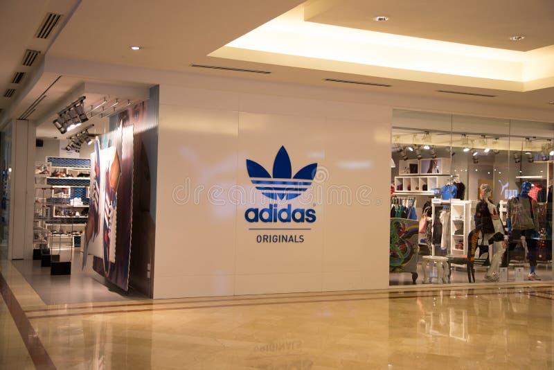 KUALA LUMPUR, MALAYSIA - SEP 27: adidas shop in Suria Shopping M royalty free stock images