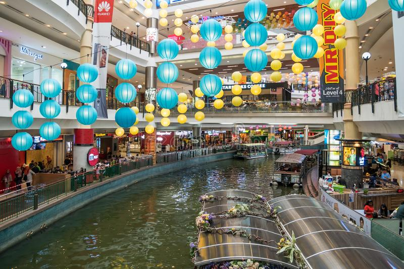 The Mines Cruise is a boat ride on two large lakes next to The Mines shopping mall in Seri Kembangan. Kuala Lumpur,Malaysia - September 11,2018 : The Mines royalty free stock photos