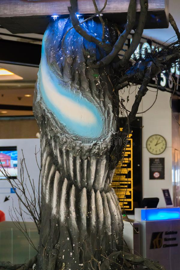 Venom. KUALA LUMPUR, MALAYSIA - SEPTEMBER 29, 2018: Venom movie standee, this movie is about Eddie Brock acquires the powers of a symbiote, and become Venom stock images