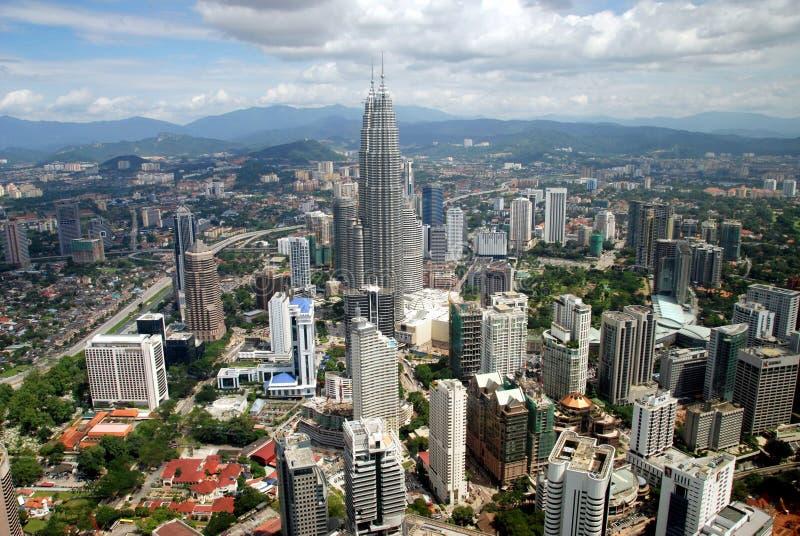 Kuala Lumpur, Malesia: Vista della città fotografia stock