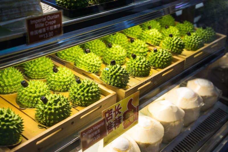 KUALA LUMPUR MALEZJA, GRUDZIEŃ, - 19, 2016: Mini Durian imperiał C zdjęcia royalty free