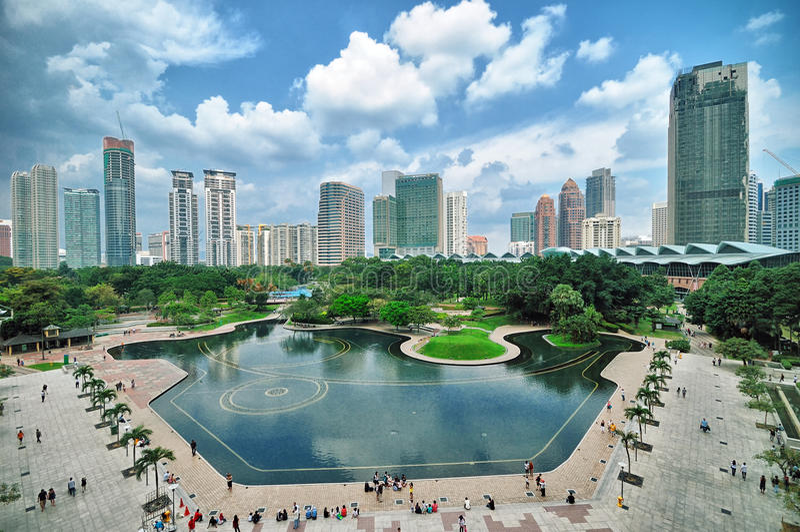 Kuala Lumpur, Malezja linia horyzontu obraz royalty free