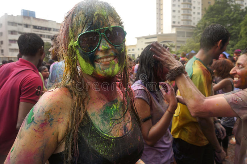 Download Colorful Face editorial stock image. Image of festival - 30184429