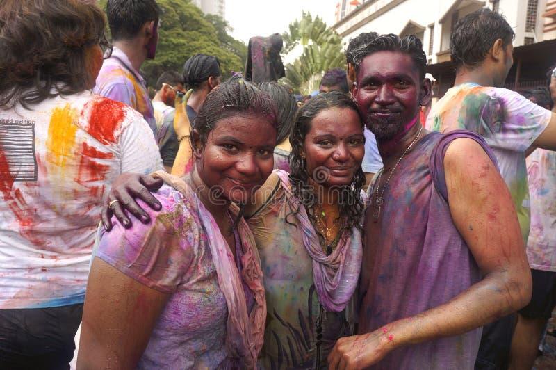 Passionnés de Holi image stock