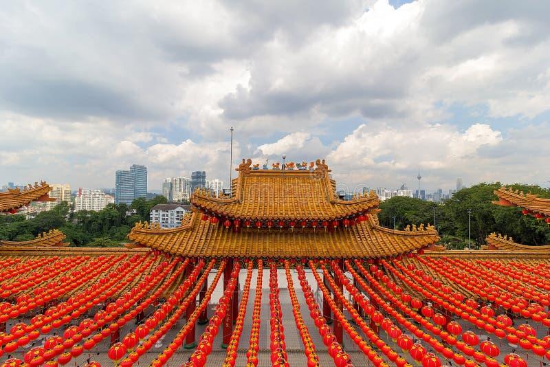 Kuala Lumpur miasta linia horyzontu od Thean Hou świątyni zdjęcia royalty free