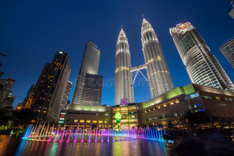 Kuala Lumpur miasto linia horyzontu, Malezja zdjęcia royalty free
