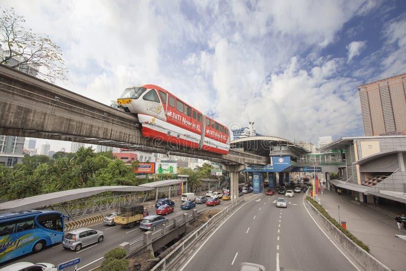Kuala Lumpur Monorail fotos de archivo