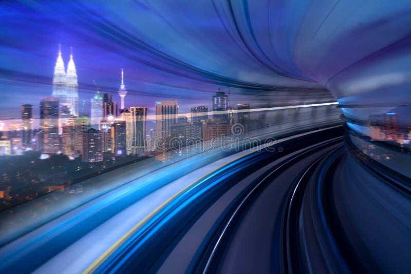 Kuala Lumpur Morden city and smart transportation concept photo vector illustration