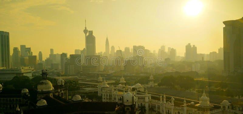 Kuala Lumpur In morgonen arkivfoton