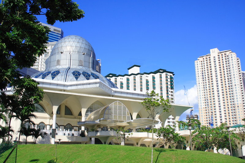 Kuala Lumpur Mosque royalty free stock photo