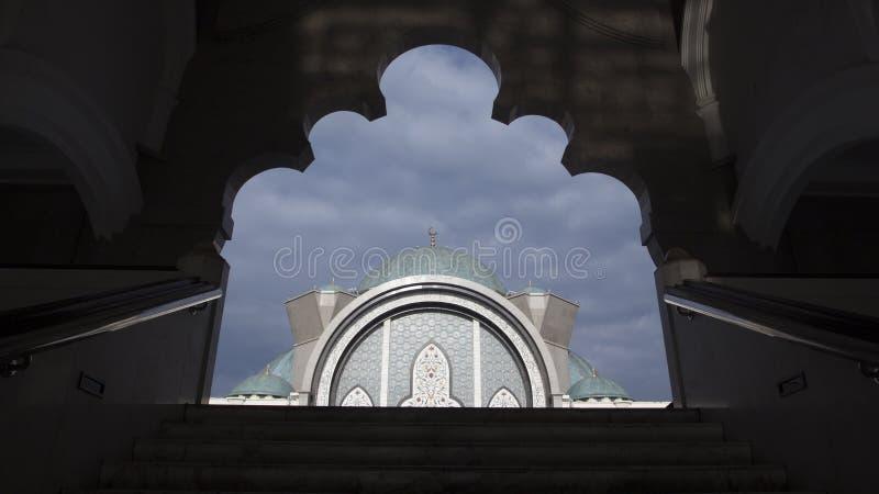 Kuala Lumpur Mosque Citys-scape stockfotografie