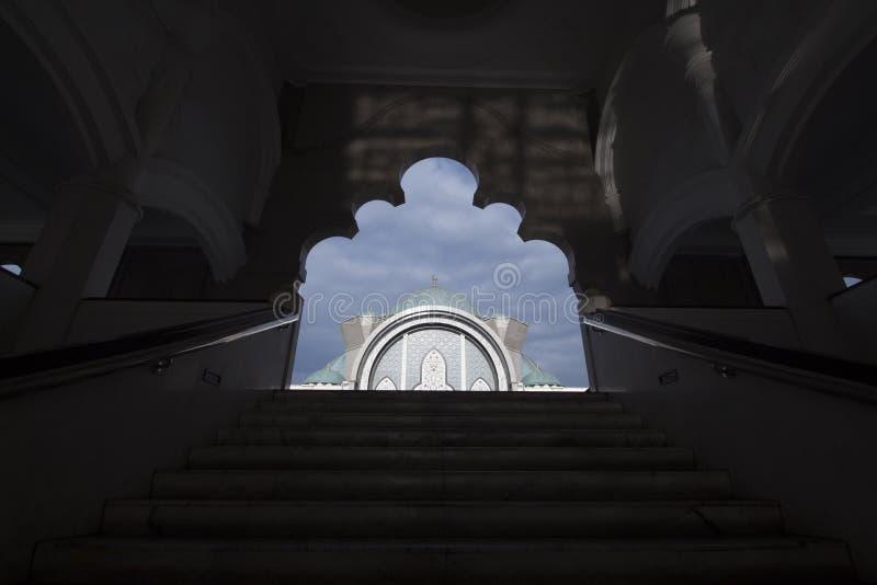 Kuala Lumpur Mosque Citys-scape stockbild