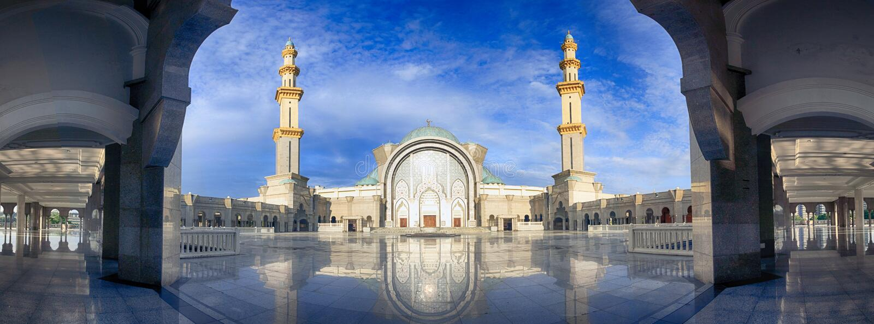 Kuala Lumpur Mosque Citys scape royalty free stock photo