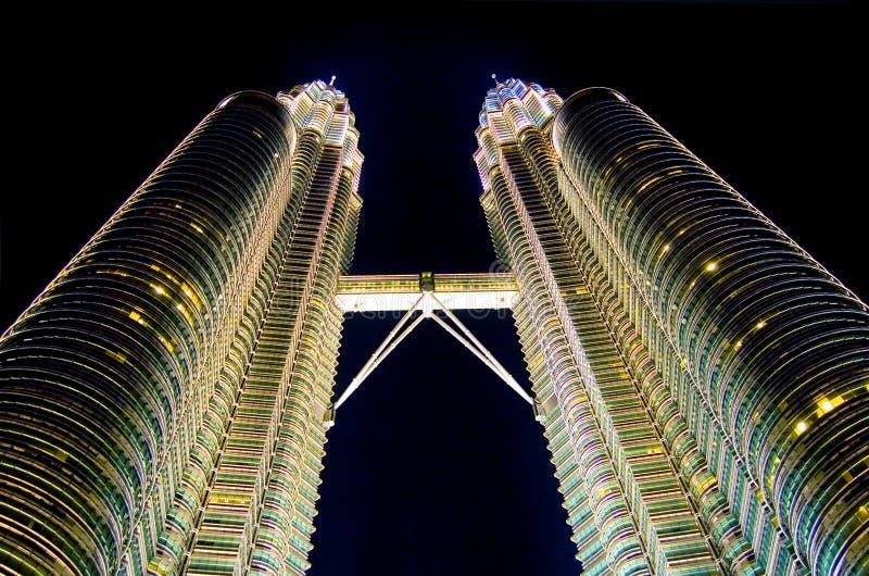 Kuala Lumpur na noite fotos de stock royalty free