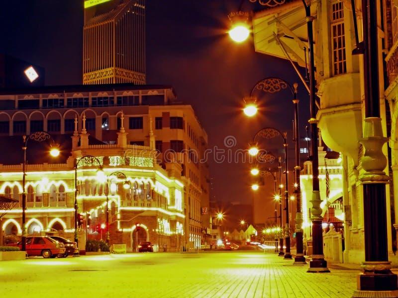 Kuala Lumpur nattlandskap royaltyfri foto