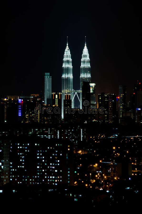Download Kuala Lumpur at night stock photo. Image of cityscape - 23672686