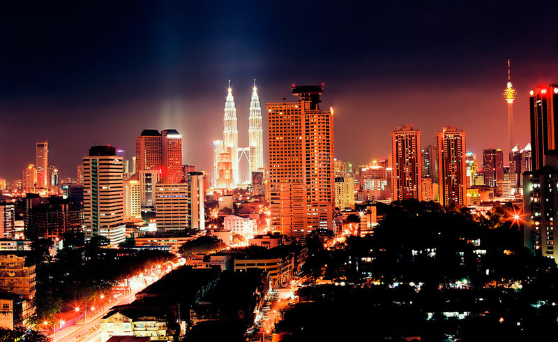 kuala Lumpur noc zdjęcie stock
