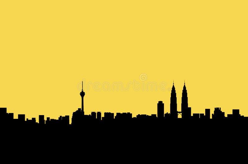 Kuala Lumpur-Panoramagraphik stockbild