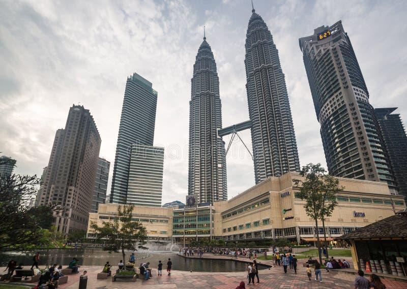 Kuala Lumpur Petronas towers stock photo
