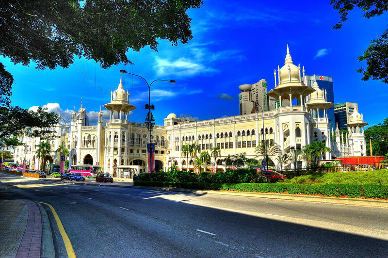 Download Kuala Lumpur Railway Station In HDR Editorial Stock Image - Image: 29333489