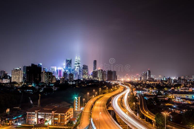 Kuala Lumpur sikt från Jelatek royaltyfri bild